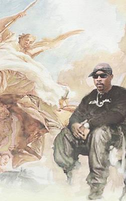 Nate, Biggie, 2pac / Wonder If Heaven Got A Ghetto Detail Poster by Jani Heinonen