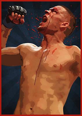 Nate Diaz Poster by Semih Yurdabak