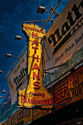 Nathans Famous Original Frankfurters  Poster by Chris Lord
