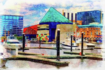 National Aquarium Watercolor  Poster by Chet Dembeck