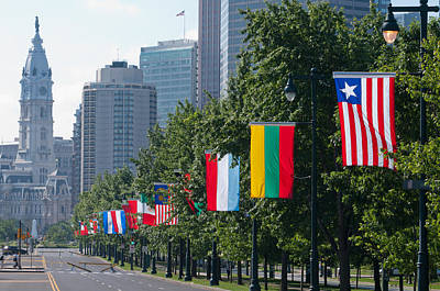 National Flags Of Various Countries Poster by Panoramic Images