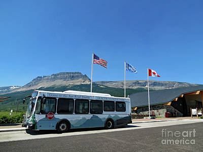 Poster featuring the photograph National Parks. St. Mary Visitor Center At Glacier by Ausra Huntington nee Paulauskaite