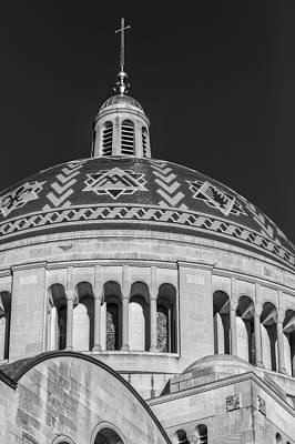 National Shrine Dome Bw Poster by Susan Candelario