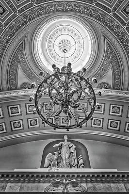 National Statuary Hall Washington Dc Bw Poster by Susan Candelario