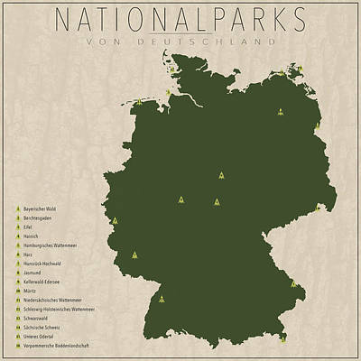 Nationalparks Von Deutschland Poster