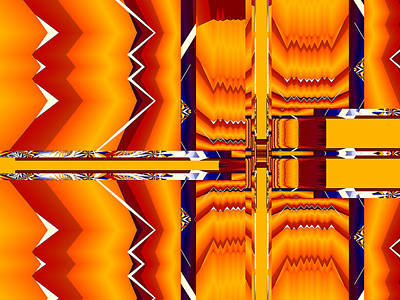 Poster featuring the digital art Native Abstract by Fran Riley