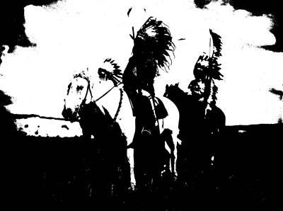 Native American 3 Curtis Poster by David Bridburg
