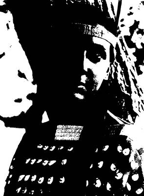 Native American 4 Curtis Poster by David Bridburg