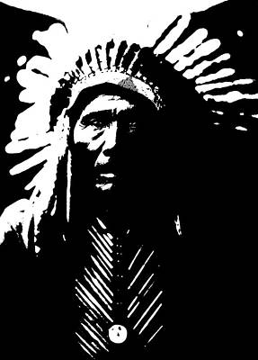 Native American 6 Curtis Poster by David Bridburg