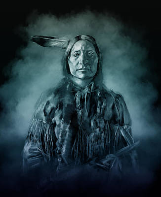 Native American Chief-scabby Bull 3 Poster by Bekim Art