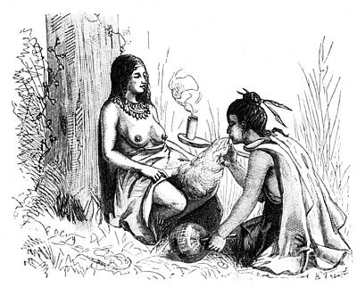 Native American Indian Midwifery, 1877 Poster by Science Source