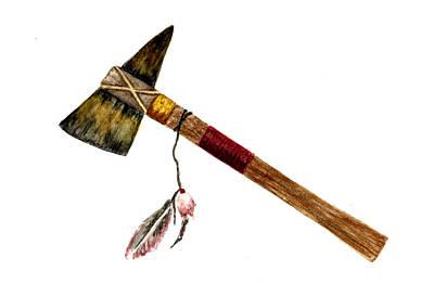 Native American Tomahawk Poster by Michael Vigliotti