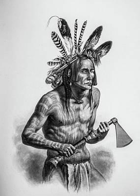 Native American Warrior Poster