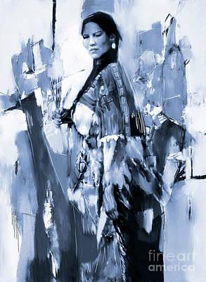 Native American Woman 09 Poster