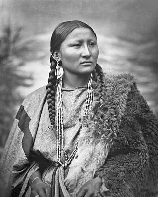 Native American Woman War Chief Pretty Nose Poster by MotionAge Designs