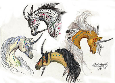 Native Unicorn Poster