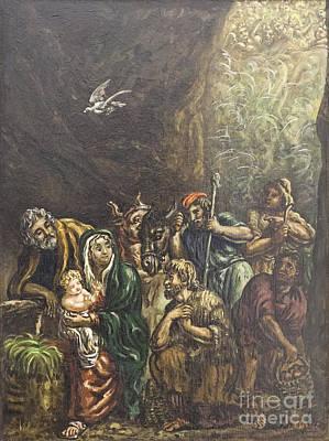 Nativity By Giorgio De Chirico Poster by Roberto Morgenthaler