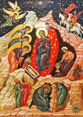 Nativity Icon Poster by Munir Alawi