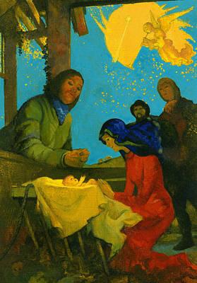 Nativity Scene Poster by George Adamson
