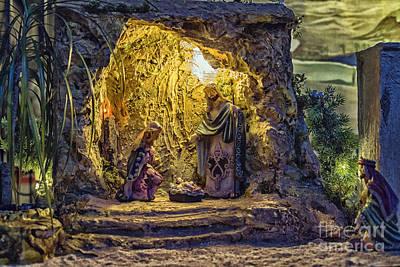 Nativity Scene Poster by Patricia Hofmeester