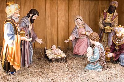 Nativity Scene Poster by Thomas R Fletcher