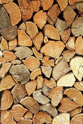 Natural Wood Poster by AugenWerk Susann Serfezi
