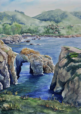 Natural Arch - Carmel Poster by Sandy Fisher