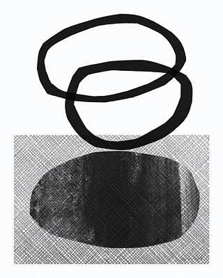 Natural Balance- Abstract Art Poster by Linda Woods