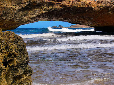 Natural Bridge Aruba Poster