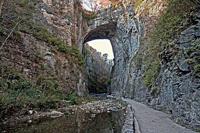 Poster featuring the photograph Natural Bridge Virginia by Suzanne Stout