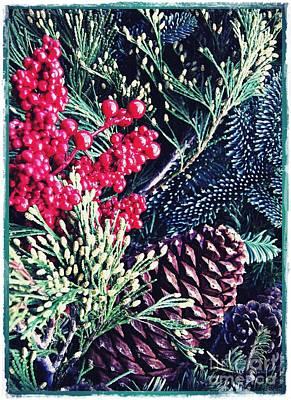 Natural Christmas 3 Card 1 Poster by Sarah Loft