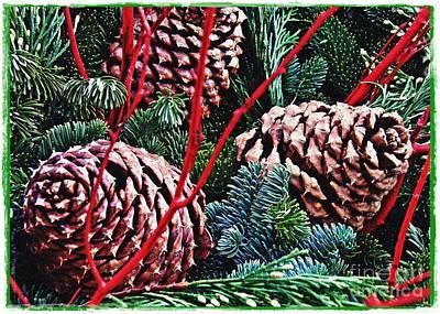 Natural Christmas 4 Card 1 Poster by Sarah Loft