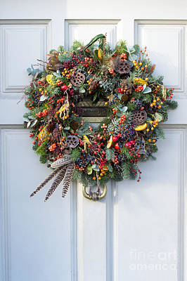 Natural Christmas Wreath Poster