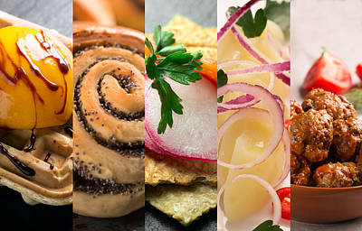 Natural Colorful Food. Photo Collage 3 Poster