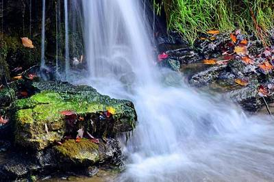 Poster featuring the photograph Natural Flowing Water by Frozen in Time Fine Art Photography