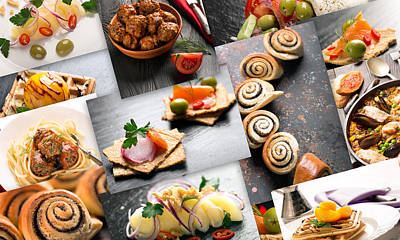 Natural Food. Photo Collage 11 Poster