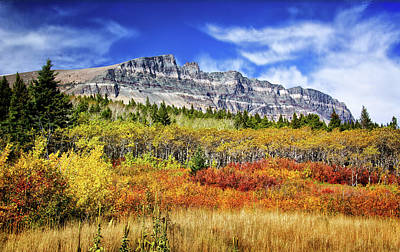 Natural Layers In Glacier National Park Poster
