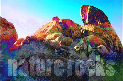 Nature Rocks Desert Landscape Poster