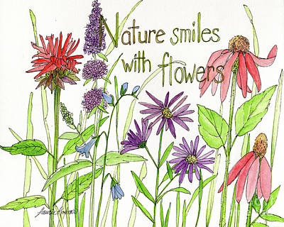 Nature Smile With Flowers Poster