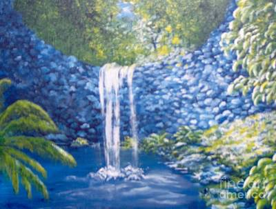 Poster featuring the painting Nature's Pool by Saundra Johnson