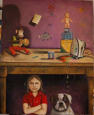 Naughty Child Poster by Leah Saulnier The Painting Maniac
