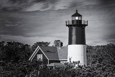 Nauset Lighthouse Bw Poster by Joan Carroll