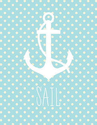 Nautical Anchor Art Print Poster by Taylan Apukovska