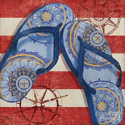 Nautical Flip Flops II Poster by Paul Brent