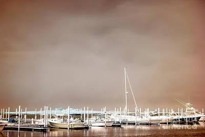 Nautical Long Beach Island Poster by John Rizzuto
