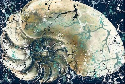 Nautical Nautilus Shell 2 Poster