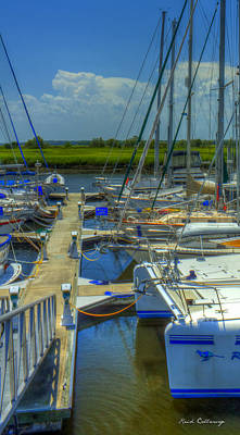 Nautical Noses Brunswick Georgia Sailboats Art  Poster by Reid Callaway