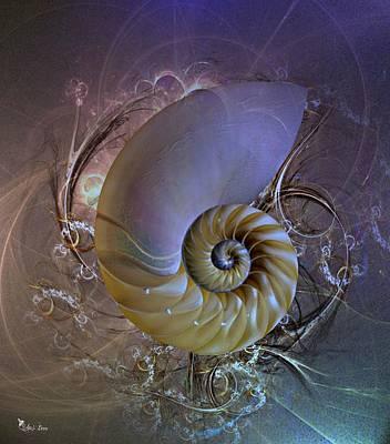 Nautilus Sea Shell 2 Poster