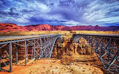 Navajo Bridge At Marble Canyon Poster by Carolyn Derstine
