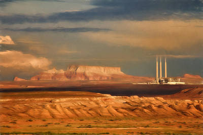 Navajo Generating Station Poster by Lana Trussell